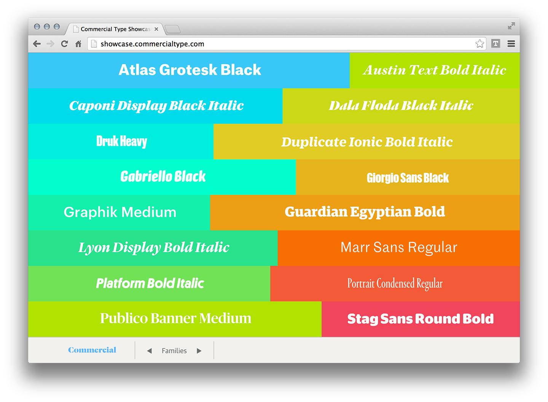 Commercial Type Webfonts Showcase