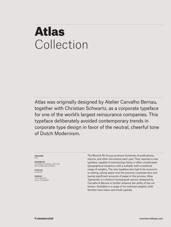 Commercial Type » Catalog » Atlas Collection