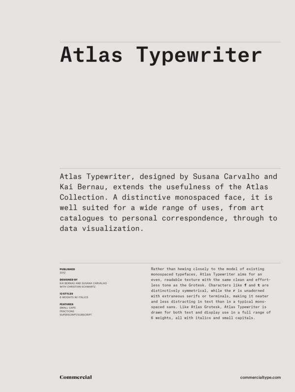 Atlas typewriter family 1 600 xxx