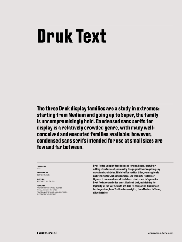 Commercial Type » Catalog » Druk Collection