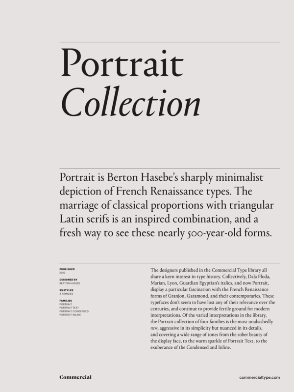 Commercial Type » Catalog » Portrait Collection