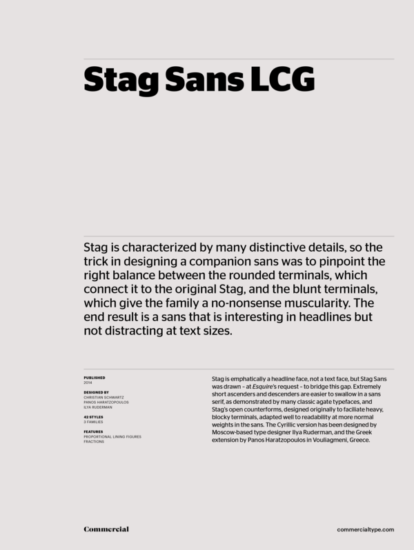 Commercial Type » Catalog » Stag Collection