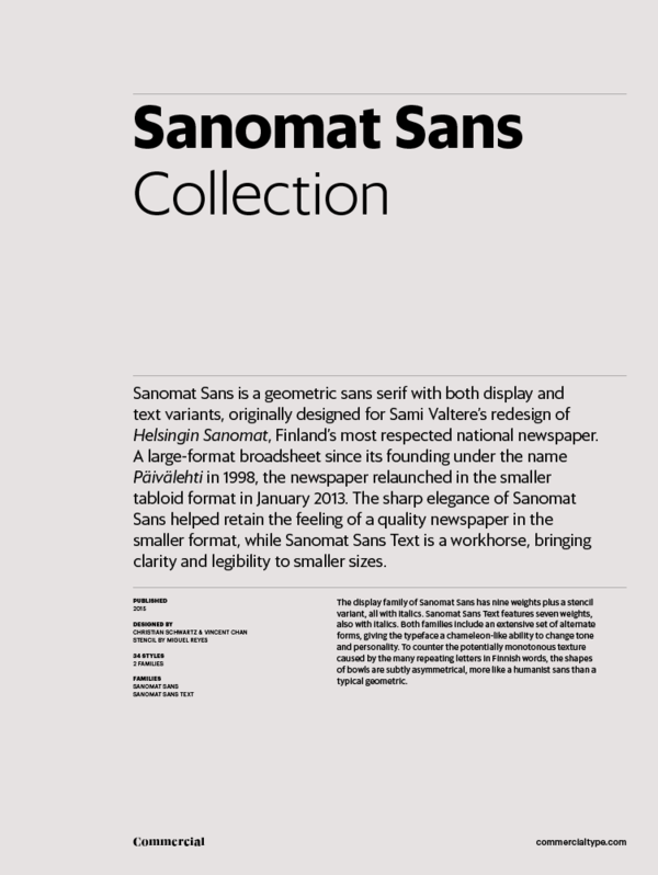 Sanomat sans collection 600 xxx q87