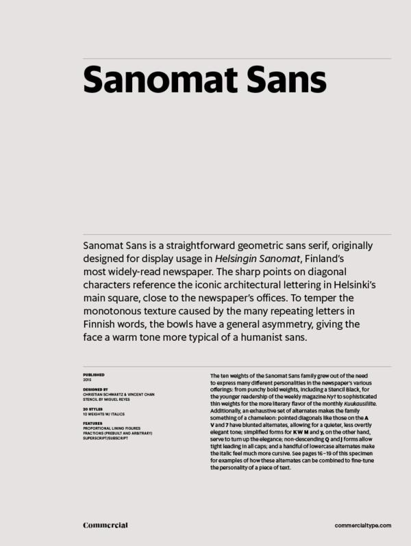 Commercial Type » Catalog » Sanomat Sans Collection