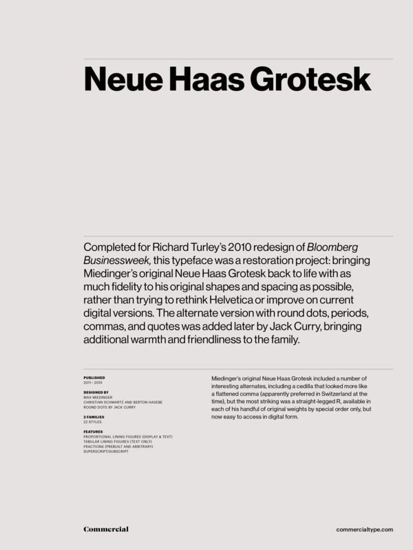 Neue haas grotesk collection 1 600 xxx q87