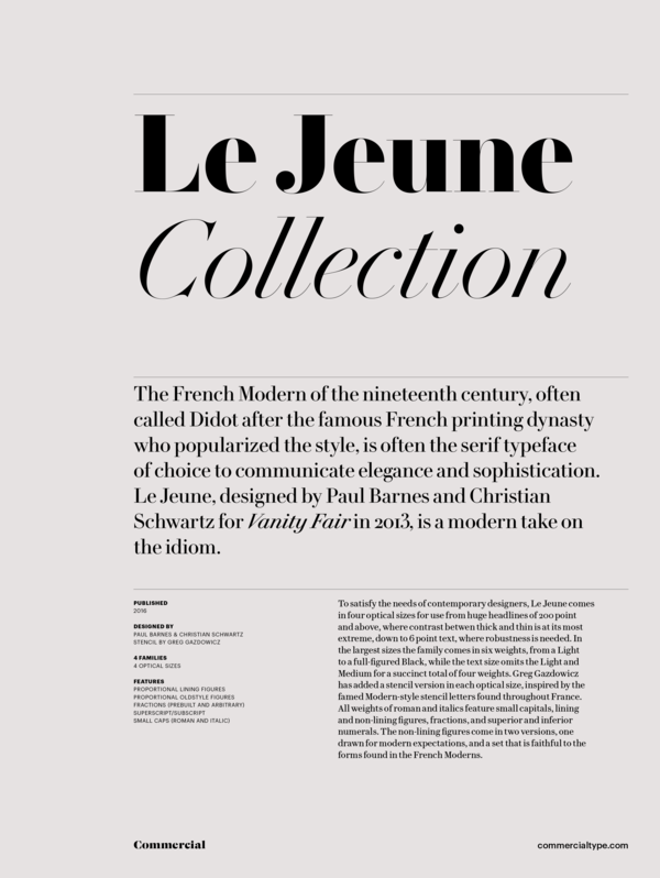 Le jeune collection 1 600 xxx q87