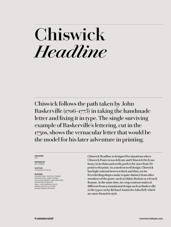 Commercial Type » Catalog » Chiswick Headline Family