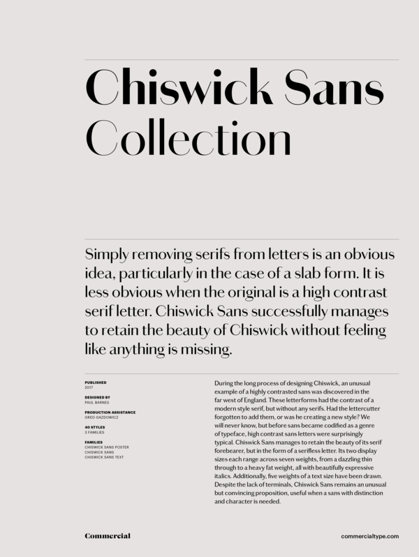 Chiswick sans collection 1 600 xxx q87