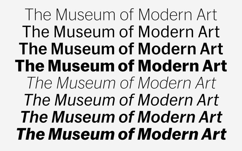Commercial Type » News » MoMA Sans for the Museum of Modern Art