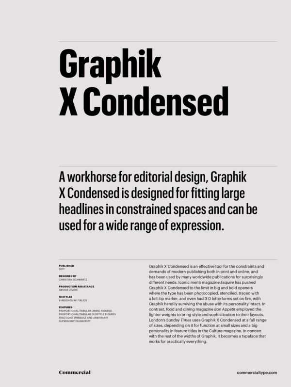 Commercial Type » Catalog » Graphik Collection