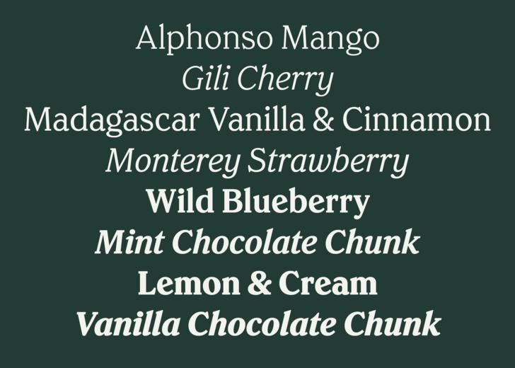 Commercial Type » News » Chobani Serif for Chobani